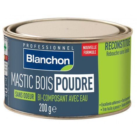 Mastic bois poudre - Chêne clair - 200 g