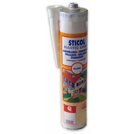Mastic collage de tuiles et gouttières colle polyuréthane PU Label SNJF carrelage béton bois métal - MASTIC STICOL
