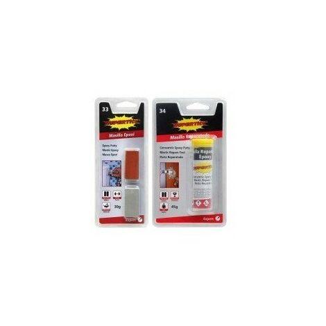 Mastic - colle epoxy repare tout - réf :2433présentation:cubescontenance:30 g