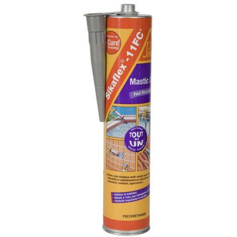 Mastic colle polyuréthane SIKA Sikaflex 11 FC Plus - Gris - 380g - Gris
