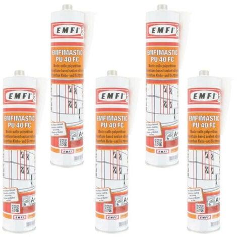 Mastic-colle polyuréthane EMFI PU 40 FC - blanc 300ml x5 - Blanc