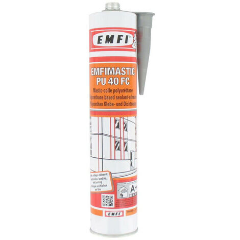 Mastic-colle polyuréthane EMFI PU 40 FC - gris 300ml