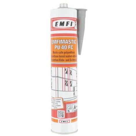 Mastic-colle polyuréthane EMFI PU 40 FC - gris 300ml x5 - Gris