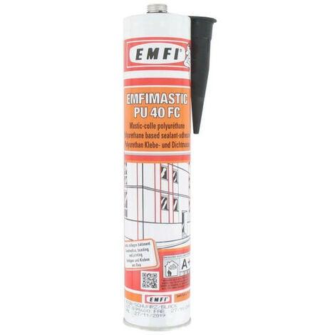 Mastic-colle polyuréthane EMFI PU 40 FC - noir 300ml - Noir