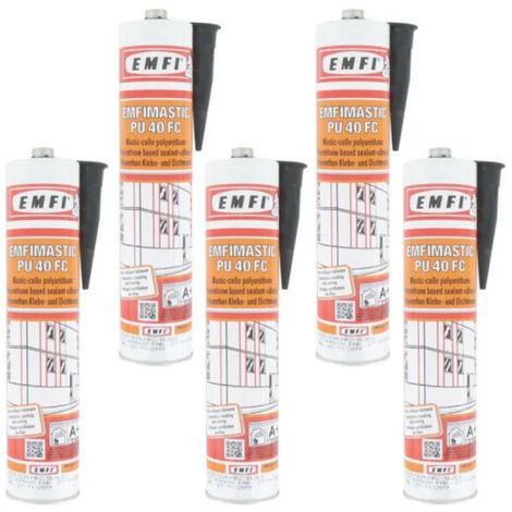 Mastic-colle polyuréthane EMFI PU 40 FC - noir 300ml x5 - Noir