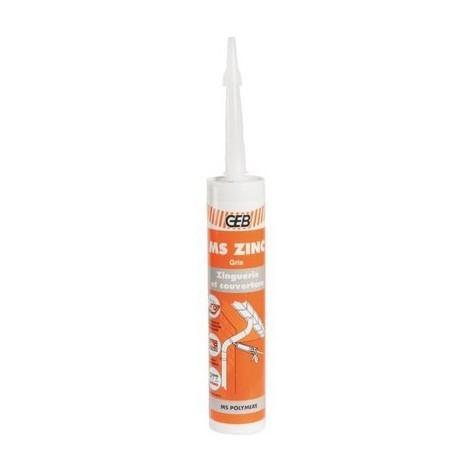 Mastic-colle pour zinguerie - 290 ml - Ms zing - Geb