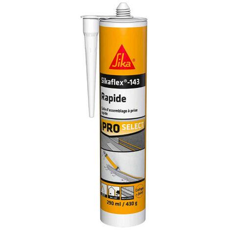 Mastic colle SIKA Sikaflex 143 Rapide - Blanc - 290ml - Blanc