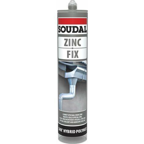mastic colle zinc fix gris