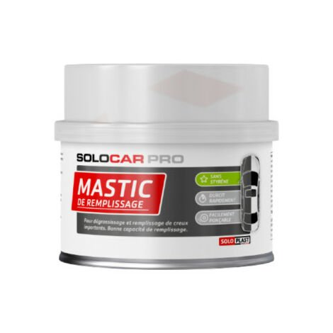 Mastic de remplissage Solocar Pro avec durcisseur 500g