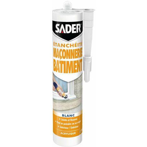 Mastic d'étanchéité maçonnerie et batiment Sader - Cartouche 310 ml - Blanc