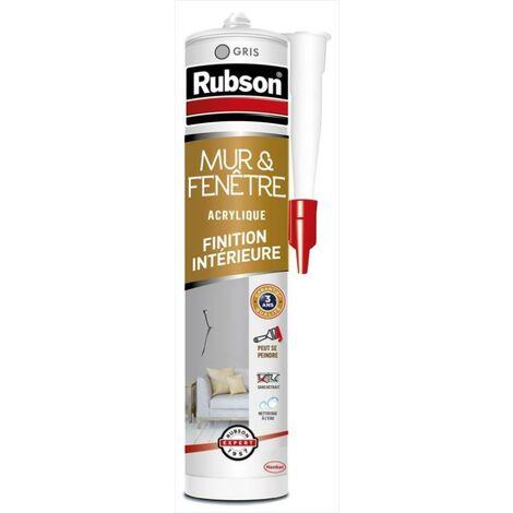 Mastic d'étanchéité mur intérieur RUBSON Finition 280 ml gris