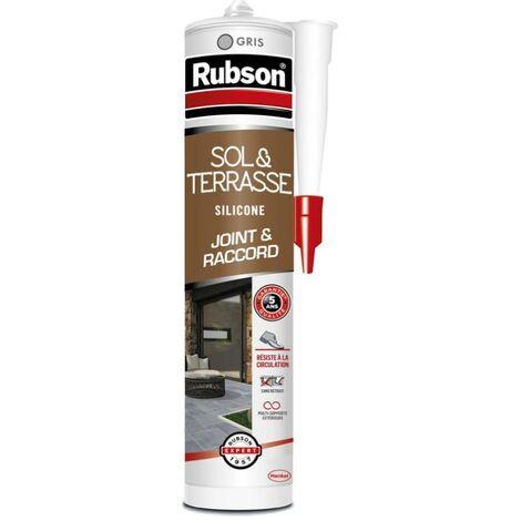 Mastic d'étanchéité sol terrasse RUBSON Haute résistance 280 ml gris