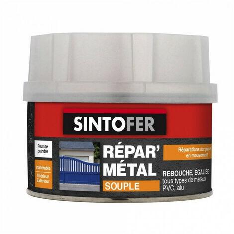 Mastic + durcisseur Répar' Métal souple SintoFer (pot de 970g) - Contenance : Pot de 970g