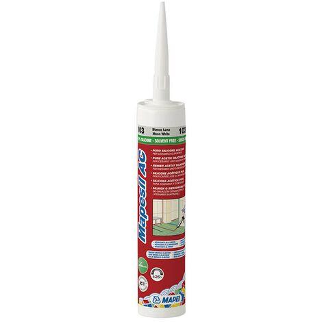 Mastic élastomère silicone pour joints MAPESIL AC - Cartouche de 310 ml - 120 NOIR