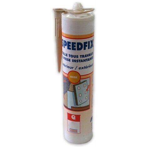 Mastic équivalent néoprène collage rapide intérieur extérieur bois PVC acier alu maçonnerie lambris plinthe - MASTIC SPEEDFIX