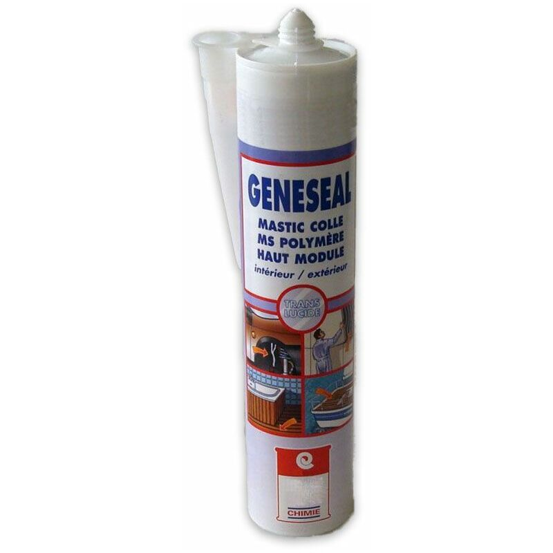 MASTIC GENESEAL - Mastic colle MS polymère neutre élastique support humide - ARCANE INDUSTRIES - Blanc - 25 cartouches de 290 ml