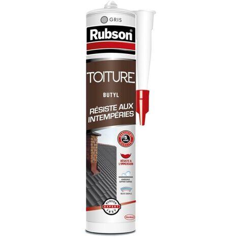 Mastic 'haute résistance' Toiture (différents coloris) RUBSON (gris) - Couleur : Gris