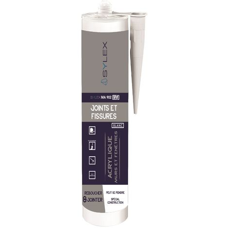 Mastic Joints et Fissures SNJF 280ml SYLEX MA 902   Couleur: Blanc