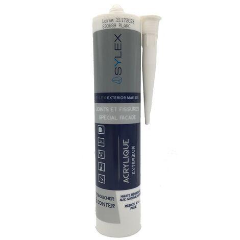 Mastic Joints et Fissures spécial façade 280ml SYLEX Exterior MAE 405   Couleur: Blanc