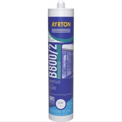 Mastic menuiserie silicone B 800 blanc - 24 cartouches de 300ml