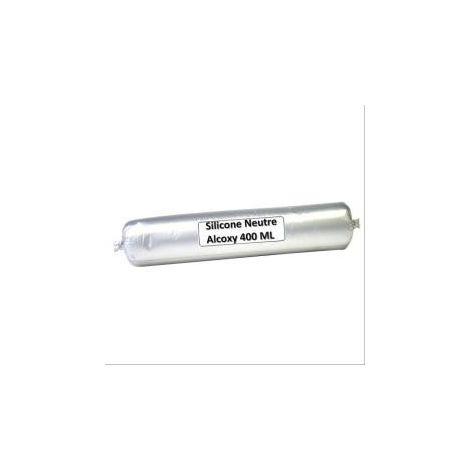 Mastic menuiserie silicone B 800 blanc - 25 poches de 300ml