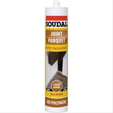 Mastic MS polymère joint de parquet Soudal noir - 290ml