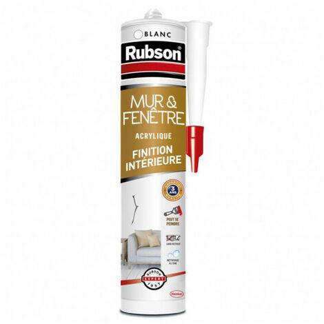 Mastic mur intérieur 280ml blanc RUBSON