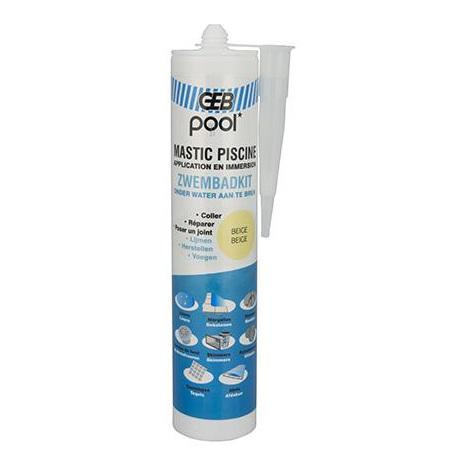 Mastic piscine POOL qualité professionnelle BEIGE 290 ml