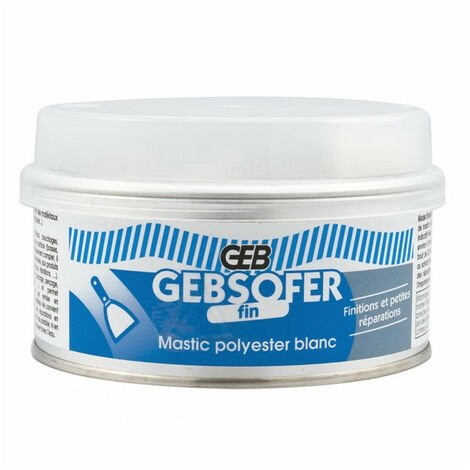 Mastic polyester blanc fin Gebsofer 150ml GEB