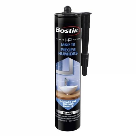 Mastic polymère hybride MSP 111 Pièces Humides (différentes coloris) Bostik- plusieurs modèles disponibles