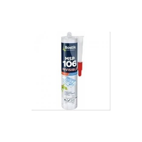 Mastic polymère MSP 106 Bostik transparent - 12 cartouches de 290ml