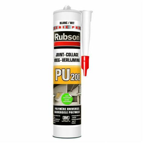 Mastic polymère universel joint - collage PU200 de RUBSON - Couleur: Blanc - Cond.: Cartouche de 280ml