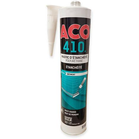 Mastic d'étanchéité polyuréthane PU joint fissures raccordement terrasse - ARCANE INDUSTRIES - Blanc - 1 cartouche de 310 ml