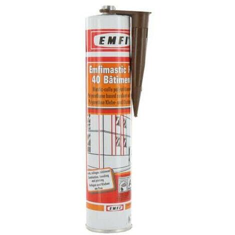 Mastic polyuréthane brun EMFI PU 40 bâtiment 300ml - Marron