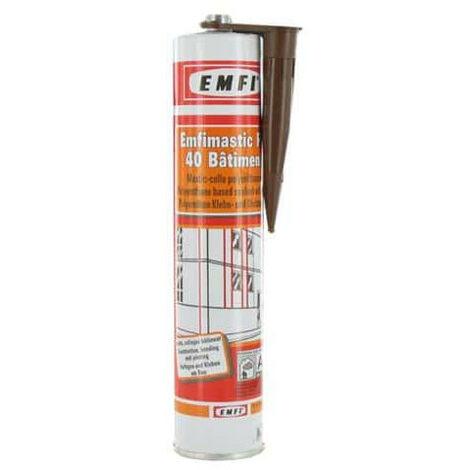Mastic polyuréthane brun EMFI PU 40 bâtiment 300ml x 5 - Marron