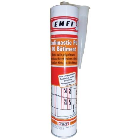 Mastic polyuréthane EMFI PU 40 FC - Blanc - Cartouche de 300 ml - 74088BE069