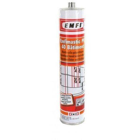Mastic polyuréthane EMFI PU 40 FC - Noir - Cartouche de 300 ml - 74088DE052
