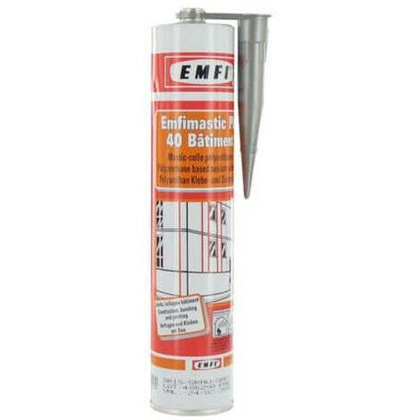 Mastic polyuréthane gris EMFI PU 40 bâtiment 300ml x 5 - Gris