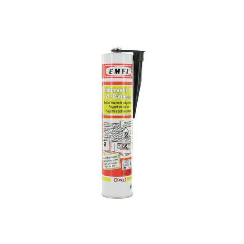 Mastic polyuréthane noir EMFI PU 25 bâtiment 300ml
