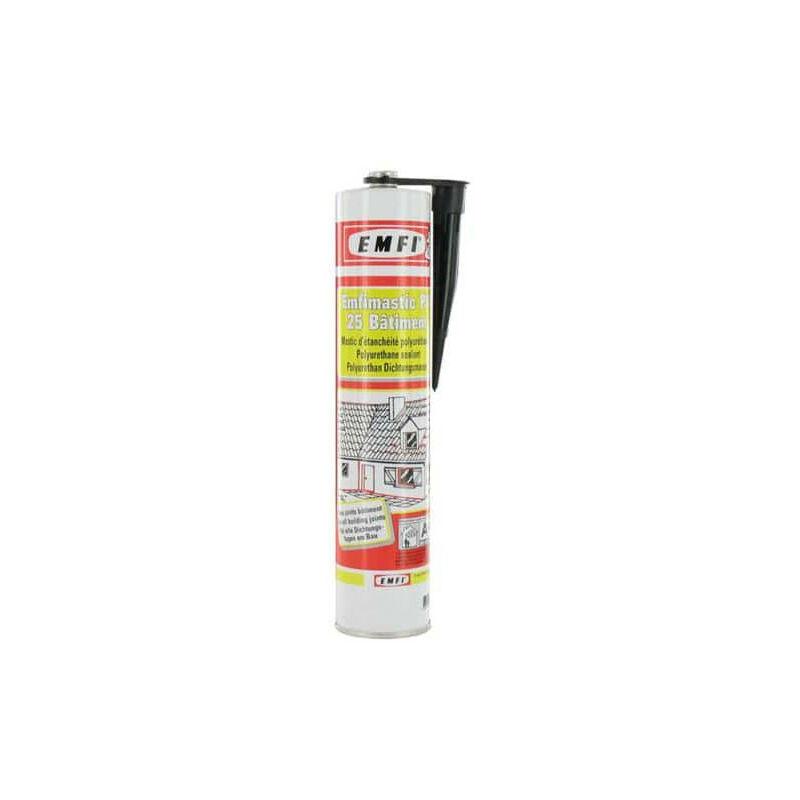 Mastic polyuréthane noir EMFI PU 25 bâtiment 300ml x 5