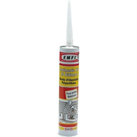 Mastic polyuréthane PU25 EMFI - Blanc - Cartouche 300 ml - 74064BE338