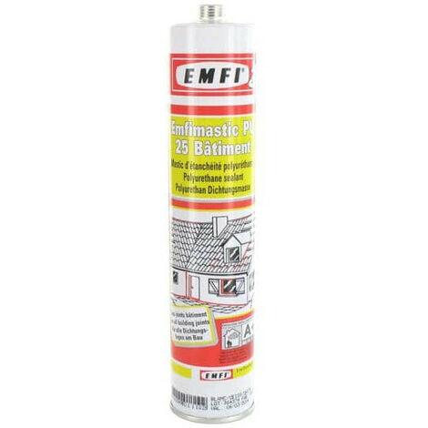 Mastic polyuréthanne blanc EMFI PU 25 bâtiment 310ml X 5