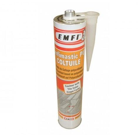 Mastic PU EMFI Tuile - Cartouche de 300 ML - Lot de 25 - 7D088DE015