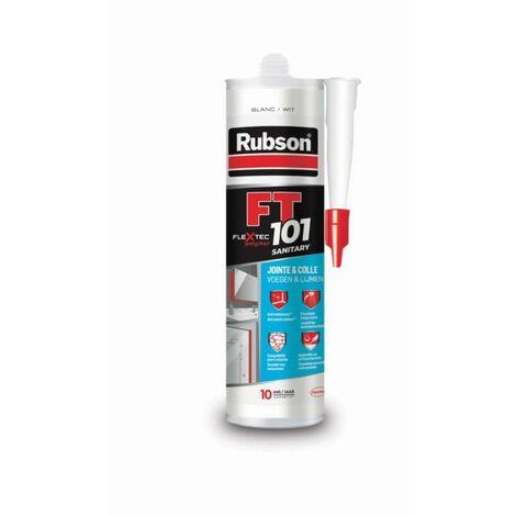 Mastic RUBSON FT 101 sanitaire - blanc - cartouche de 280 ml - 2556912
