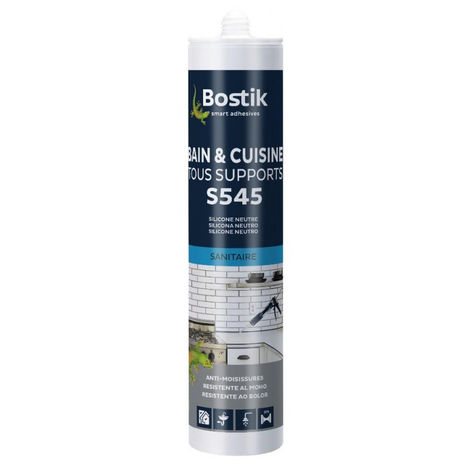 Mastic S545 Bain Cuisine Tous supports BOSTIK Gris Anthracite - 30615873