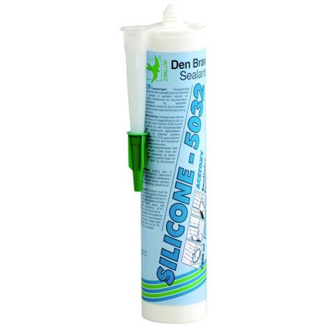 Mastic sanitaire Silcone-5032 (différents coloris) Den Braven- plusieurs modèles disponibles