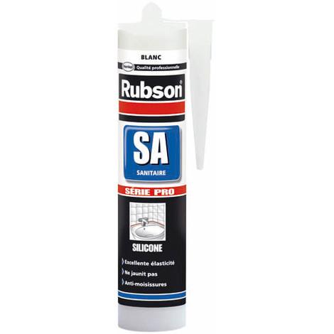 "main image of ""Mastic sanitaire silicone acétique surface émaillée SA blanc-300ml"""