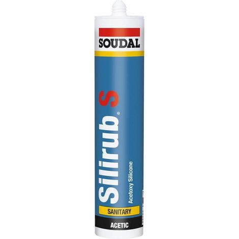 Mastic sanitaire Silirub S 310ml noir SOUDAL