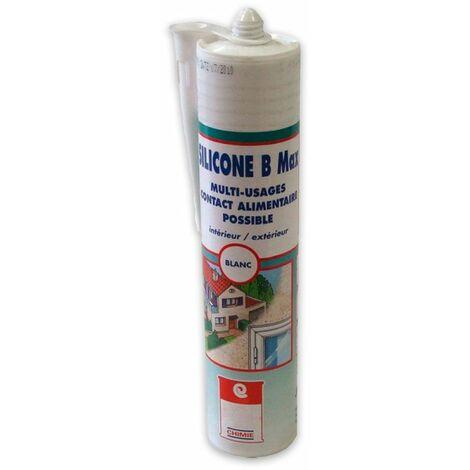 MASTIC SILICONE B MAX - Joint d'etanchéité silicone étanchéité maçonnerie menuiserie carrosserie auto bateau caravane Mastic