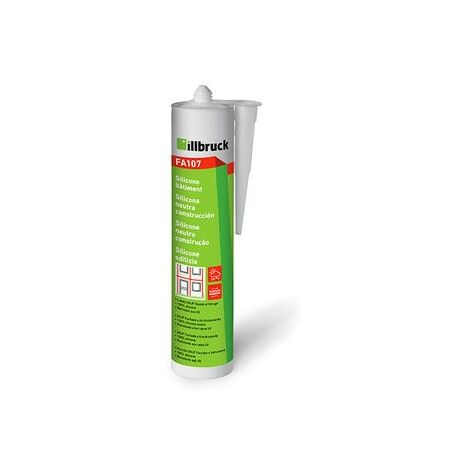 Mastic silicone batiment FA107 Transparent 310ml Illbruck